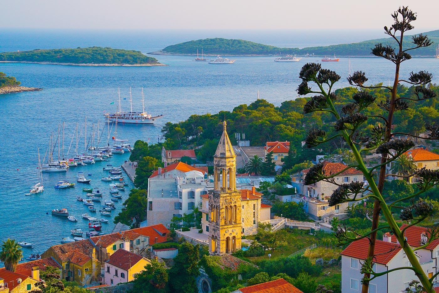 Sailing routes in Croatia