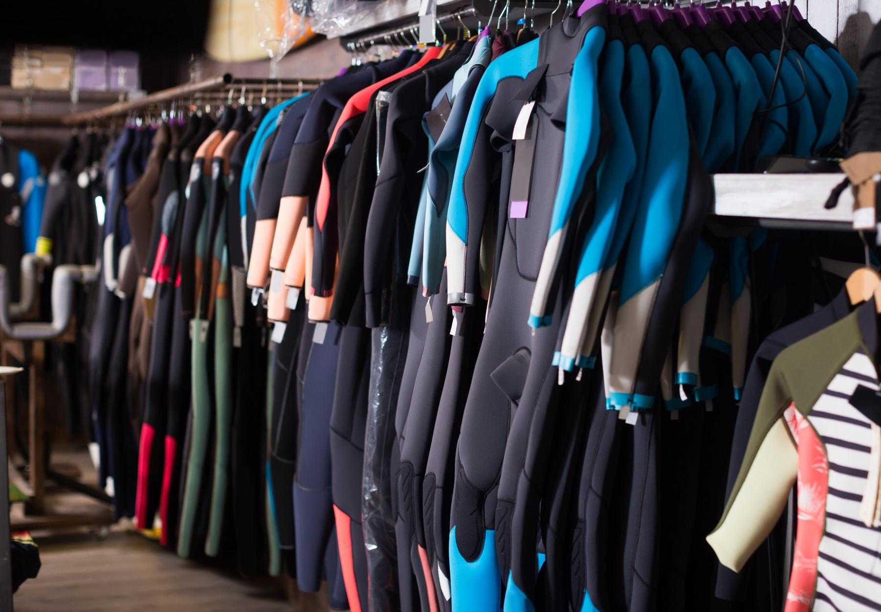 Different wetsuit sizes