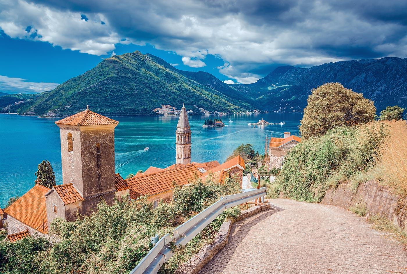 Sailing routes in Montenegro