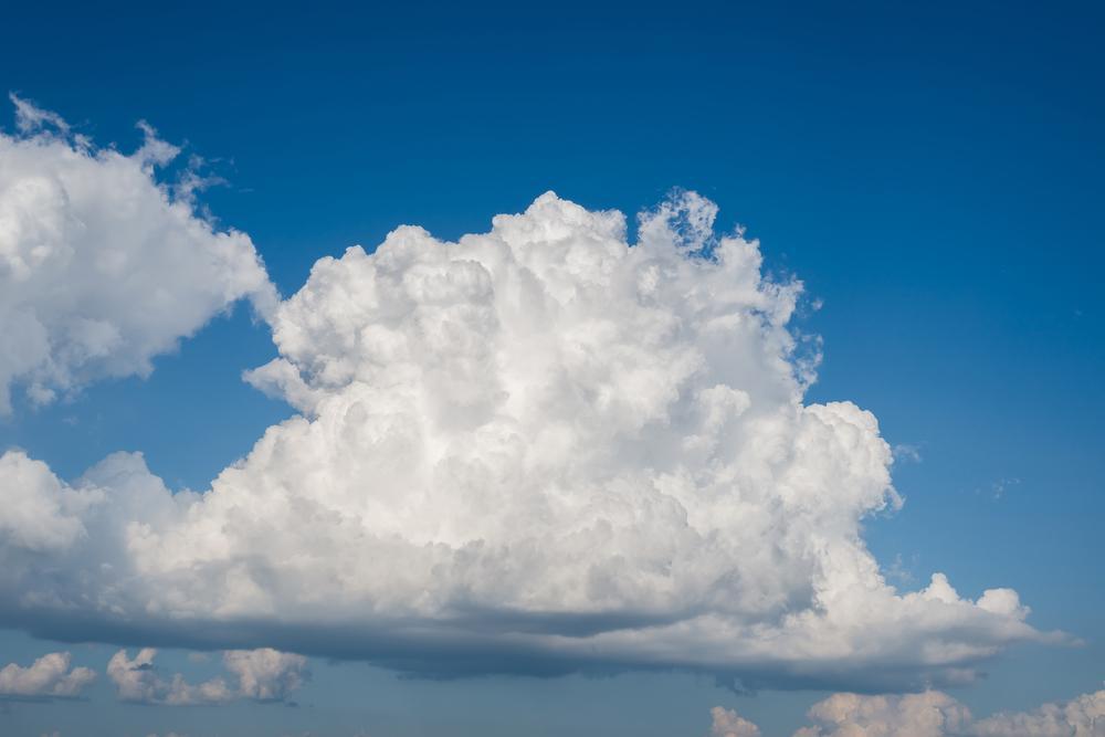 Vertical development clouds