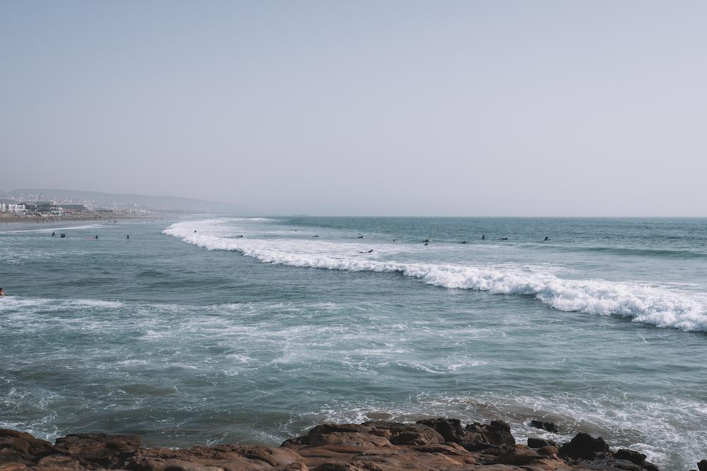Anchor Point, Taghazout, Morocco surfers beach
