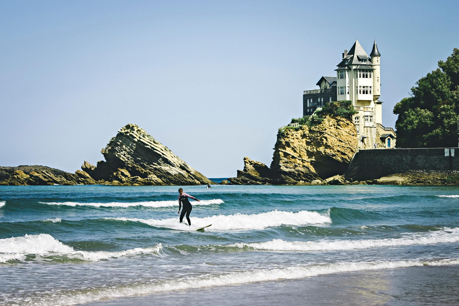 Most famous beach - Biarritz