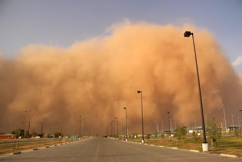 Dust storms.