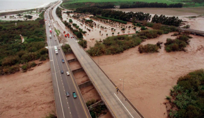 The media began covering El Niño extensively in 1998, when the phenomenon was particularly severe, with, for example, devastating floods in Chile and heavy rains in California.