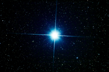 Photo of Sirius taken with an amateur telescope