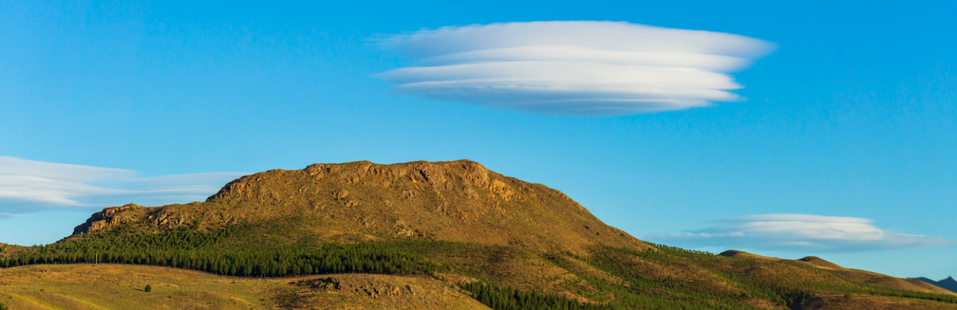 How lenticular clouds form. Simple explanation